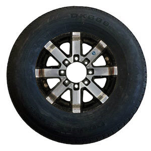 235/80R16 on 865 Aluminum Wheel Tire with Aluminum Rim PJ Trailers (tires)