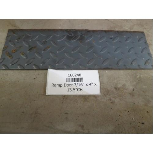 "Ramp Door 3/16"" x 4"" x 13.5"" CH Ramp Doors PJ Trailers"