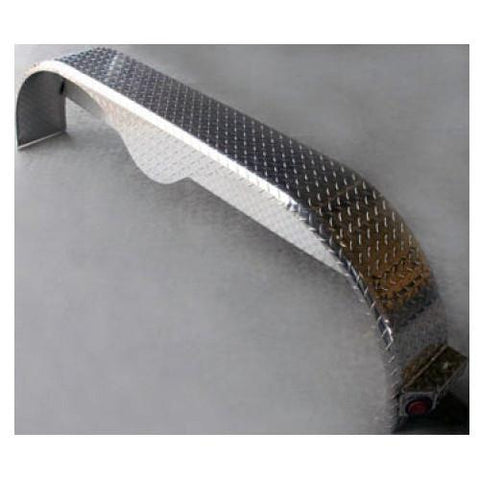 Aluminum Diamond Plate - 9x72 Tandem Fender - for 16