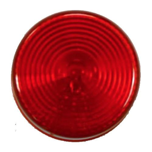 "Red Clearance Light, 2"" Round Clearance Lights PJ Trailers"