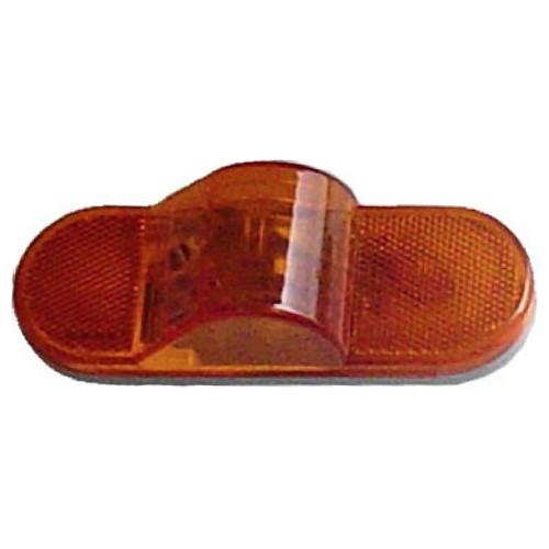 "Mid-mount 6"" Oval Amber lamp Mid-Mounts PJ Trailers"