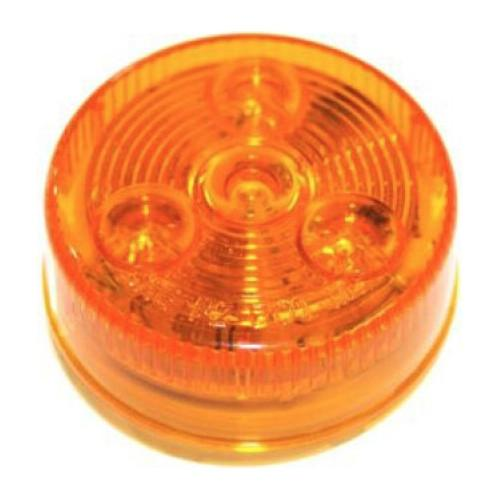"Amber LED Clearance Light, 2"" Round Clearance Lights PJ Trailers"