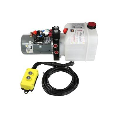 KTI Hydraulic Pump, Dual Action w/Remote & 3qt Tank