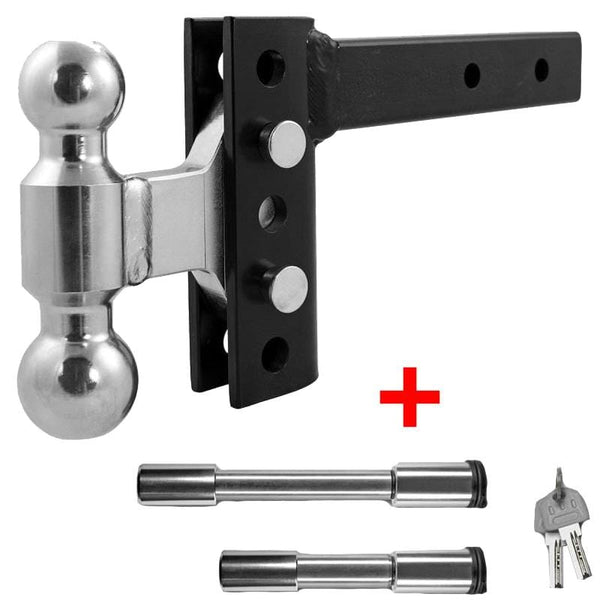 "4"" EZ HD 14K Hitch with 2"" x 2-5/16"" Combo Ball + Lock Set"
