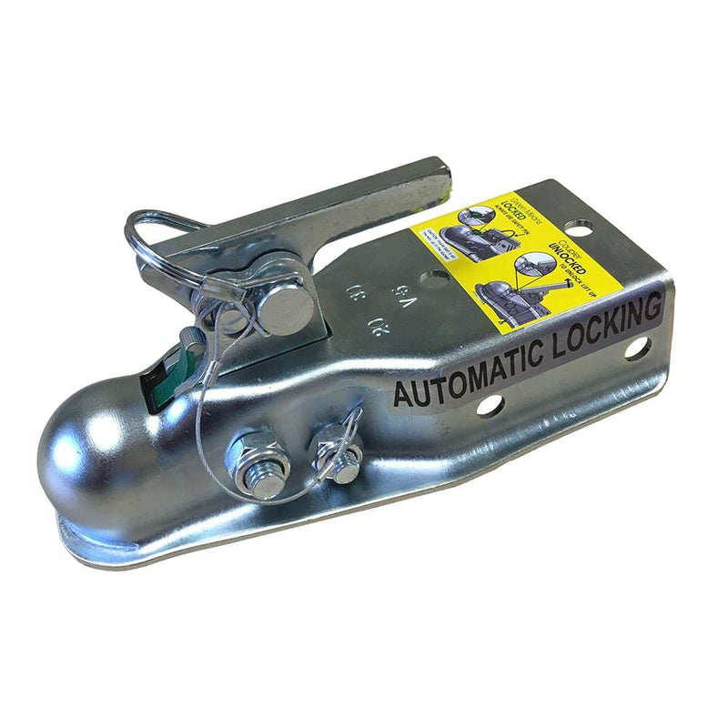"Auto-locking Class II 1-7/8"" Ball, Trailer Coupler Auto-Locking Coupler Hit N Hitch"