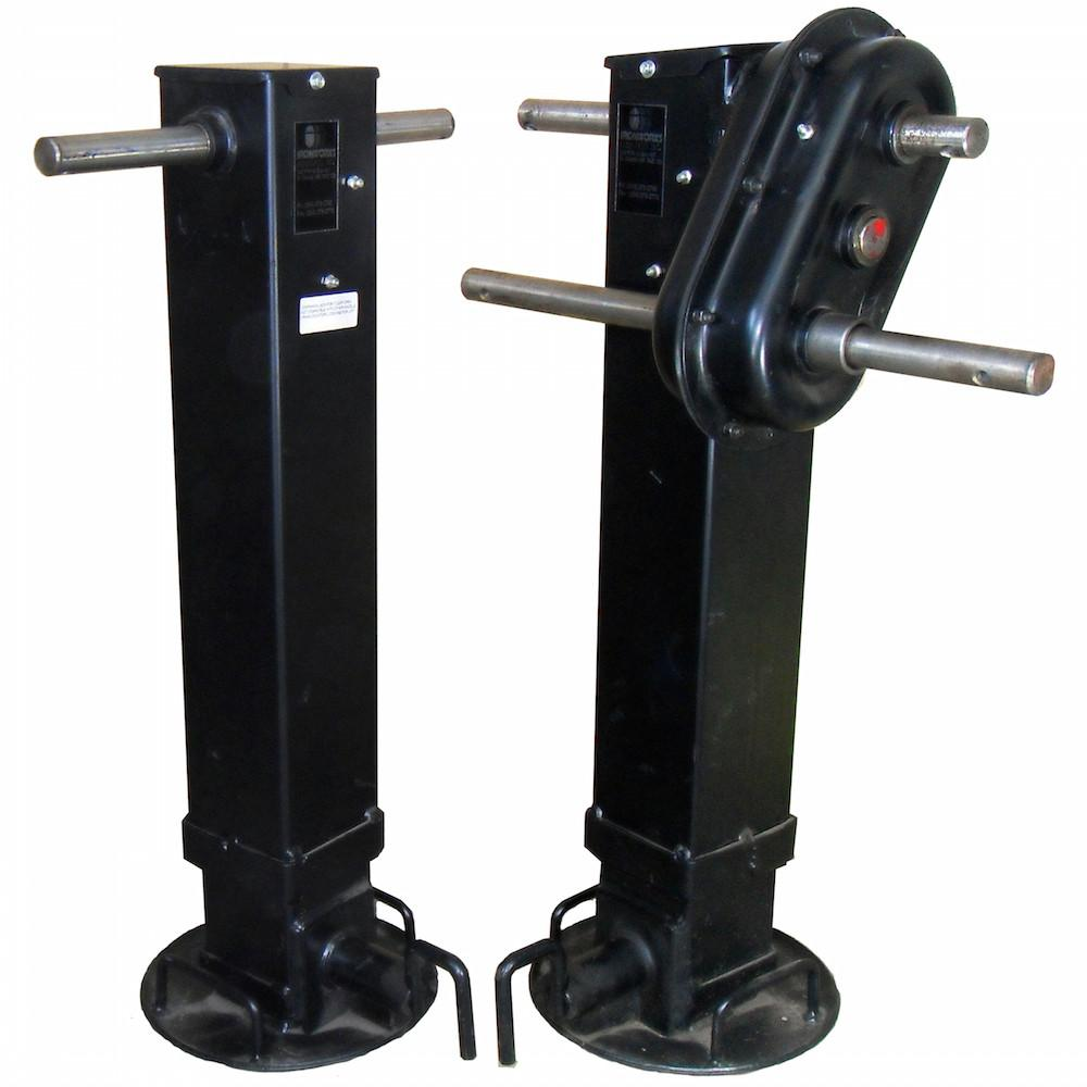 Cargo Trailer Accessories >> Drop Leg Landing Gear Set, 2 Speed - 50K – PJ Trailers Canada, Inc.