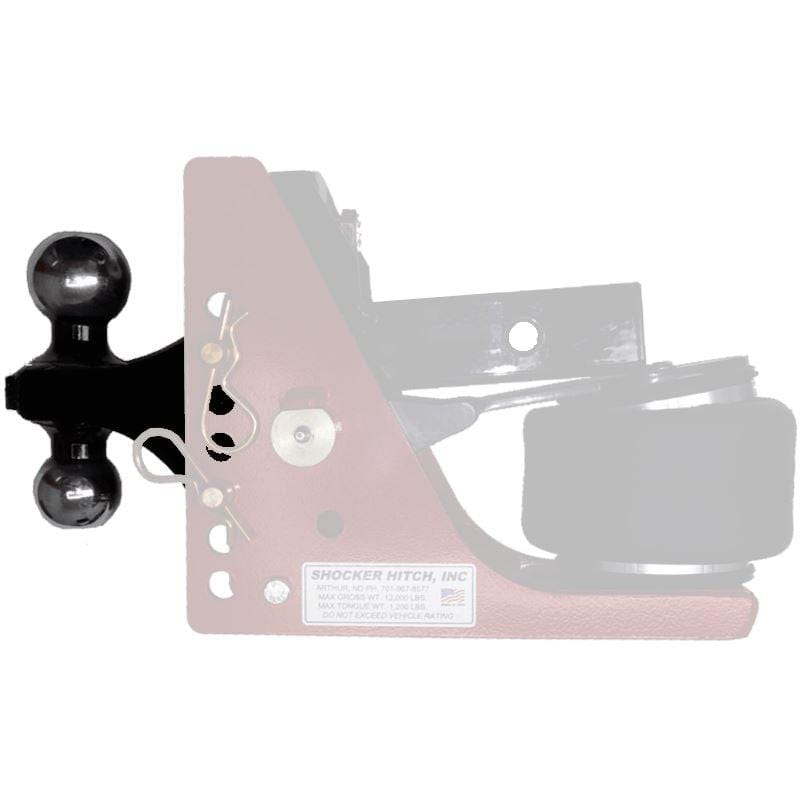 Bumper Pull Combo Ball Mount for Shocker Hitch (2-5/16″ & 2″ balls) Ball Mount Shocker Hitch
