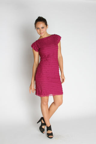 Ruffle Shift Dress - Pink