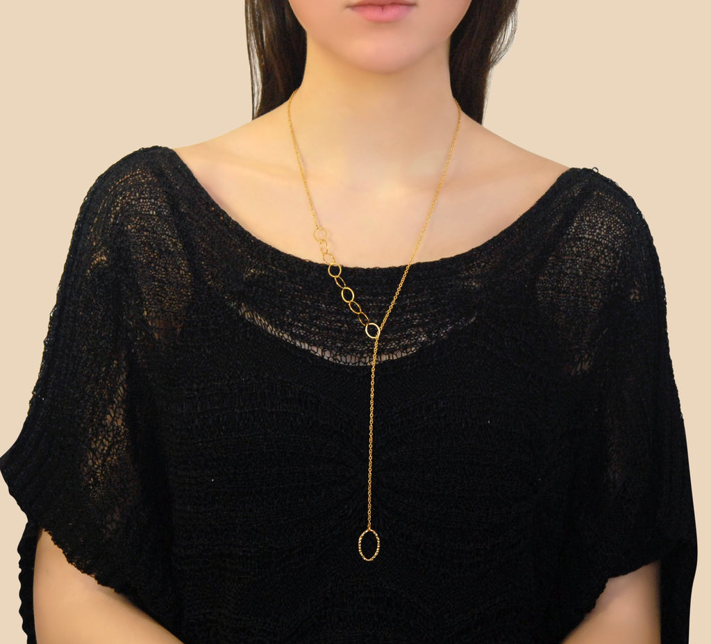 THREE CHAIN PULLOVER NECKLACE