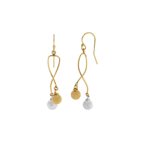 Silver and Gold Starlight Ball Earrings