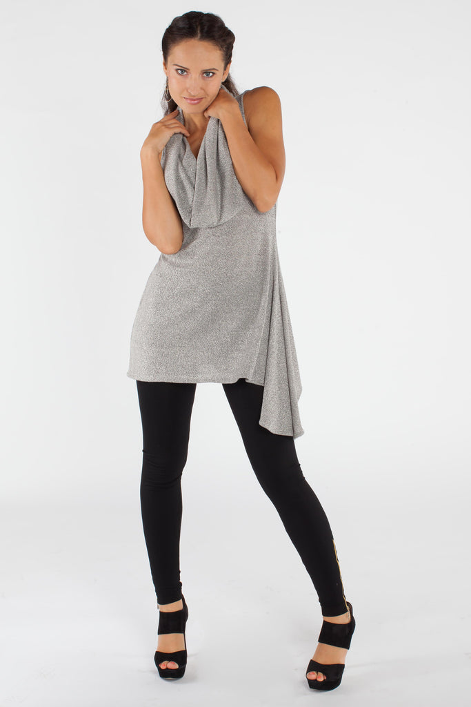 Asymmetrical Tunic - Grey