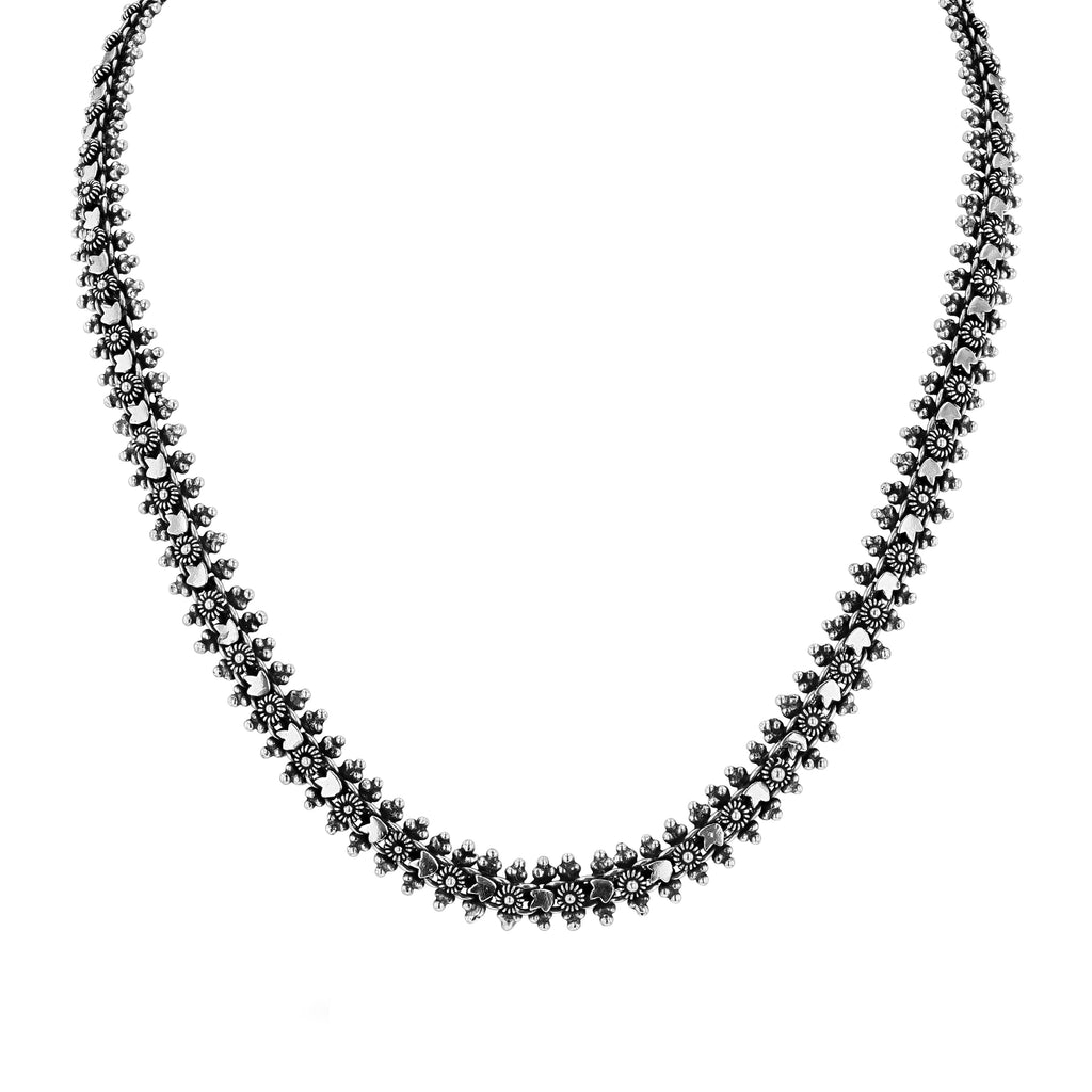 TULIP SHAPED CHAINMAIL NECKLACE