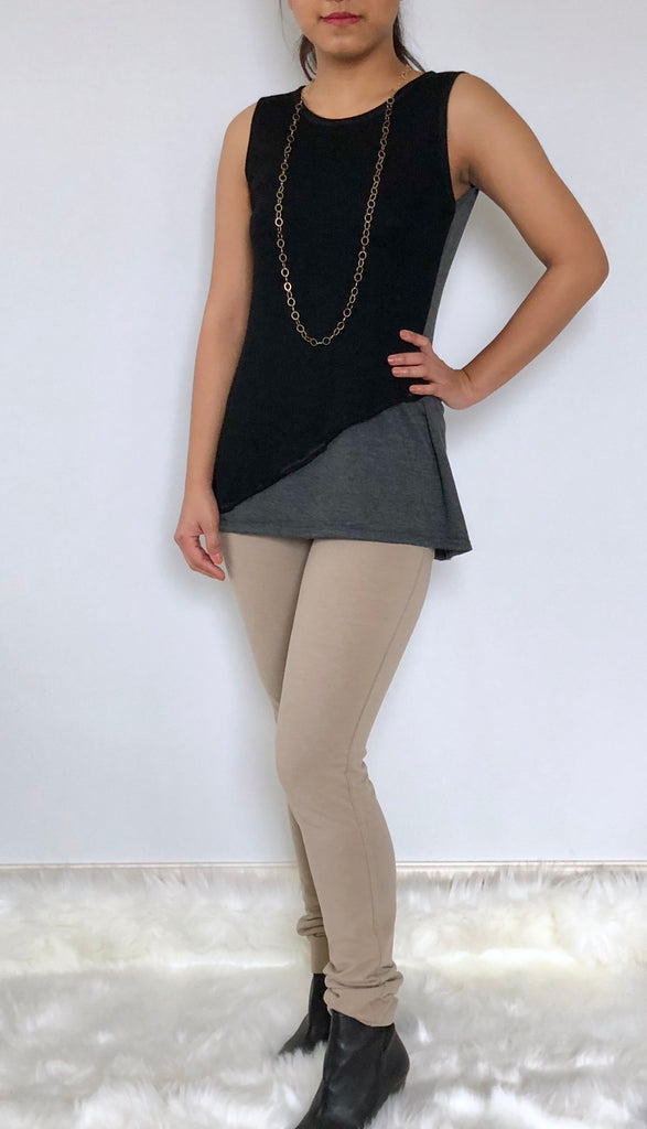 Two tone tunic top