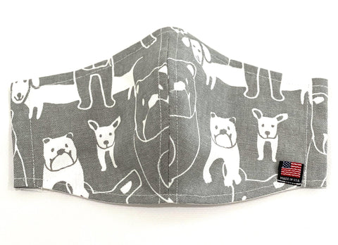 Fabric face mask dog lovers - Cotton face mask - Pocket for filter