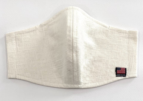Off white Linen Face Mask/Adult Face Mask/Linen Face Mask/Reusable Face Mask With Pocket For Filter