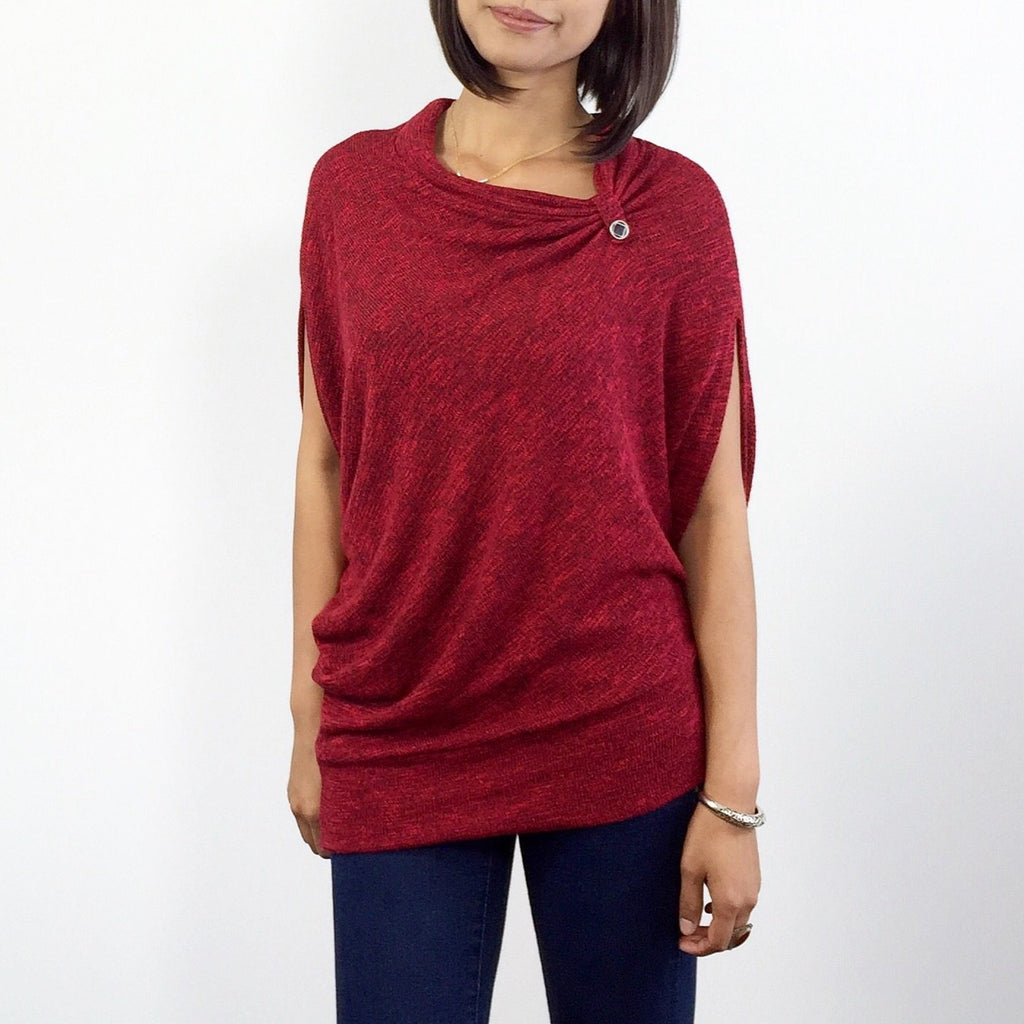 Asymmetrical Jersey Knit Top - Mod Kham
