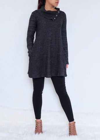 Split Neck tunic dress