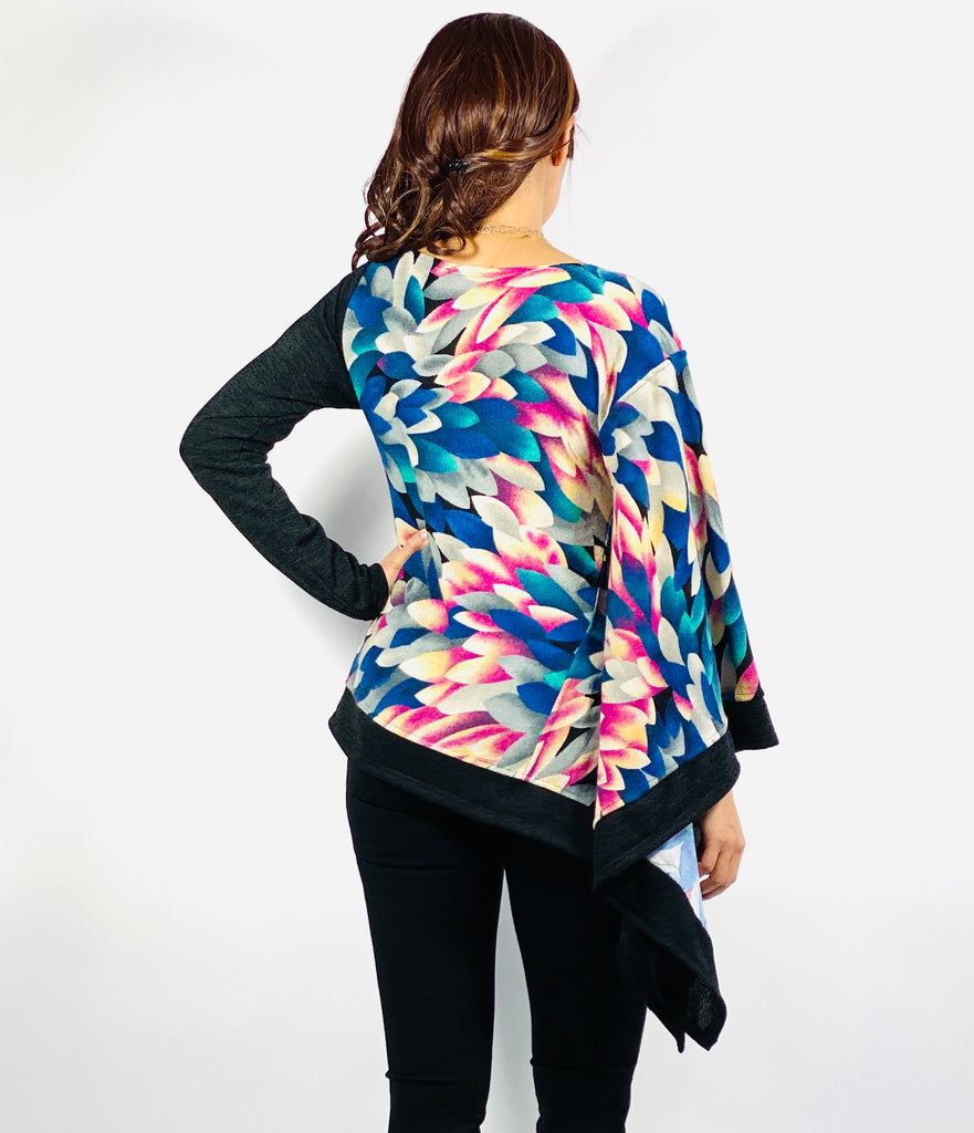 Water lily poncho top