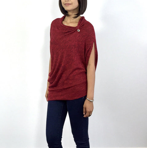 Asymmetrical Jersey Knit Top
