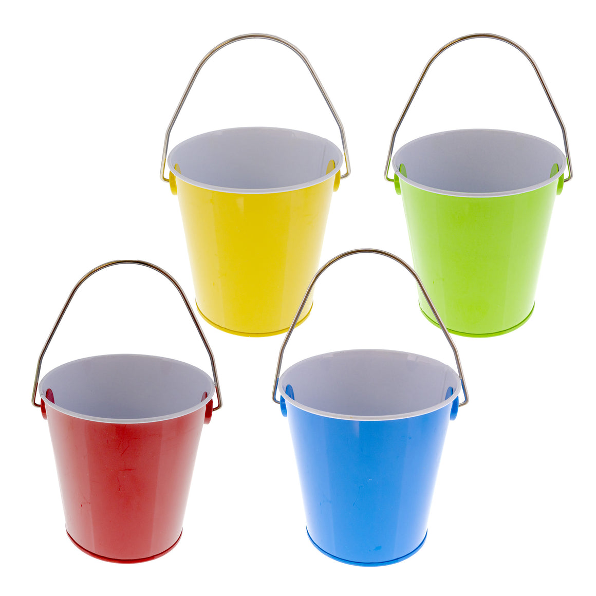 "Mini Tin Pails with Handles 4""x 4"" - Bazicstore"
