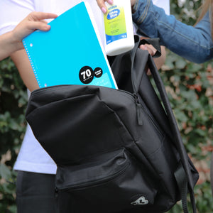 "16"" Black Basic Backpack - Bazicstore"