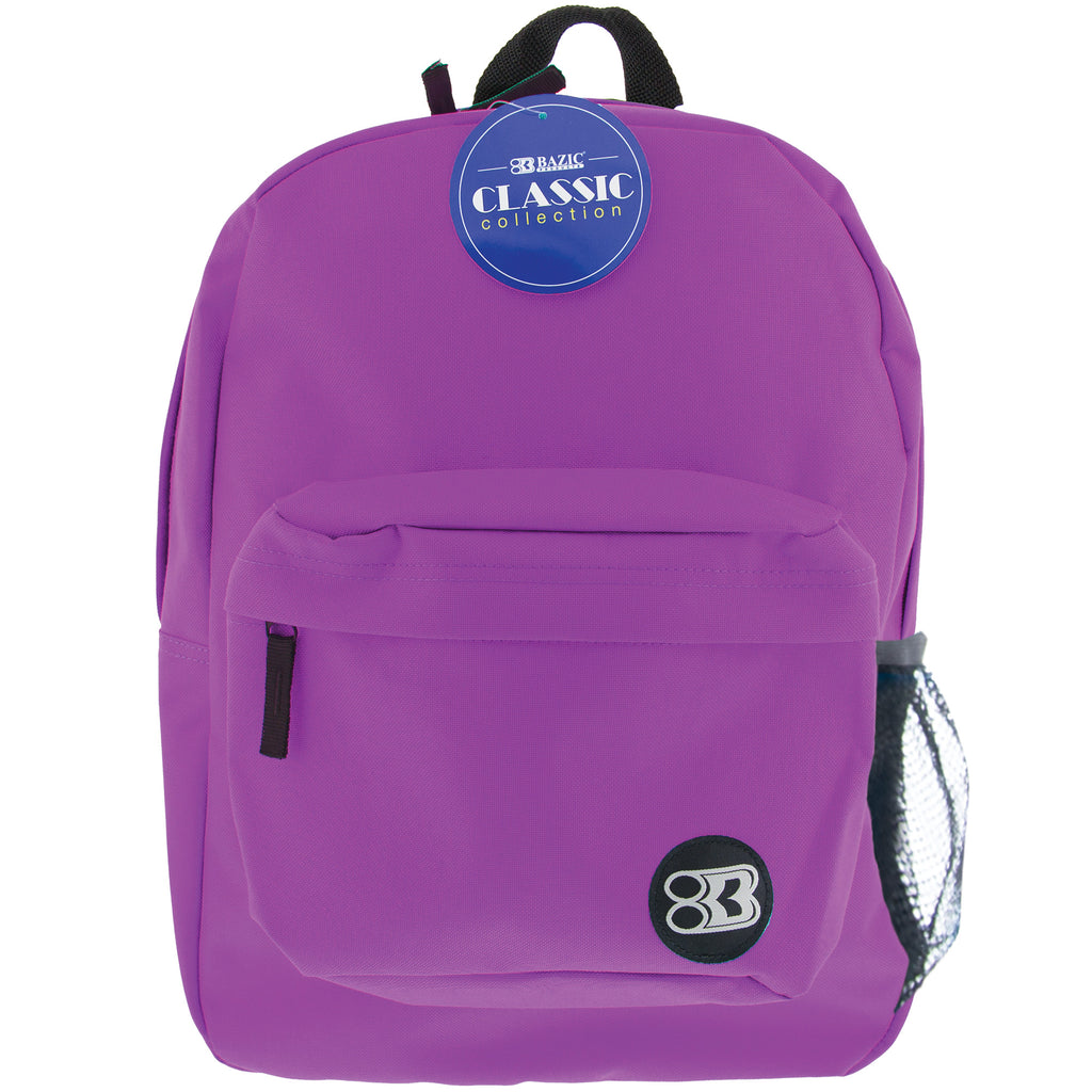 "#1057 17"" Purple Classic Backpack"