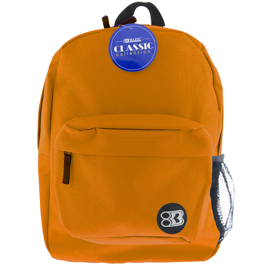 "#1058 17"" Orange Classic Backpack"