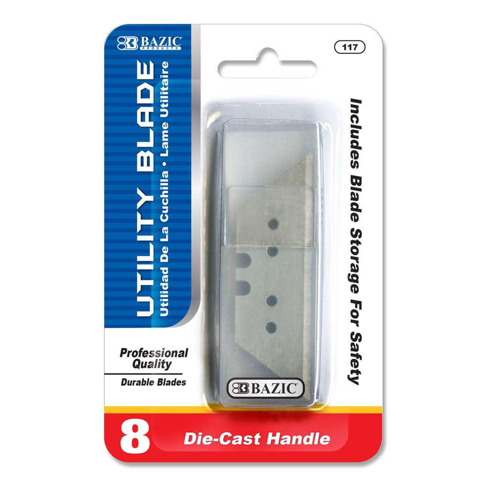 Utility Knife Replacement Blade with tube (8/Tube) - Bazicstore