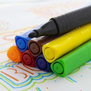 8 Color Jumbo Triangle Washable Markers - Bazicstore