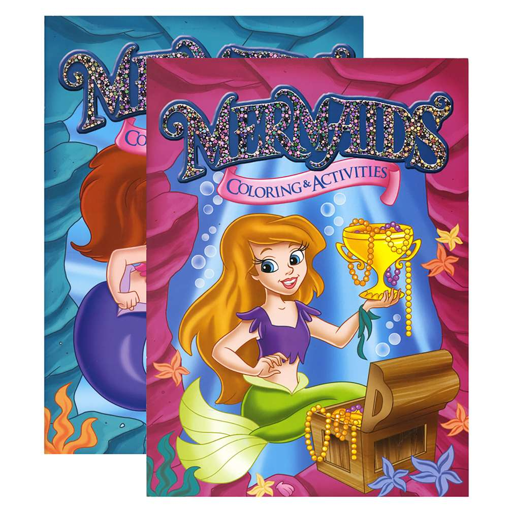 - MERMAIDS FOIL & EMBOSSED Coloring & Activity Book - Bazicstore