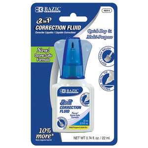 0.74 FL OZ (22 mL) 2 in 1 Correction w/ Foam Brush Applicator & Pen Tip - Bazicstore
