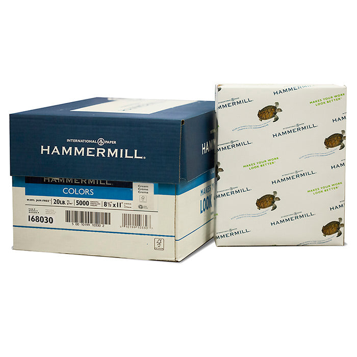 "HAMMERMILL 8.5"" X 11"" Cream Colored Paper (10 Reams/Case) - Bazicstore"