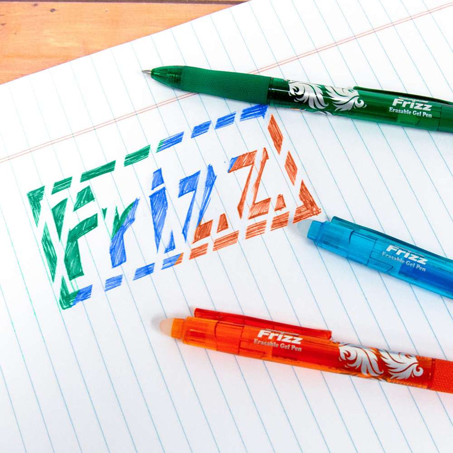 Frizz Fashion Color Erasable Gel Retractable Pen with Grip - Bazicstore