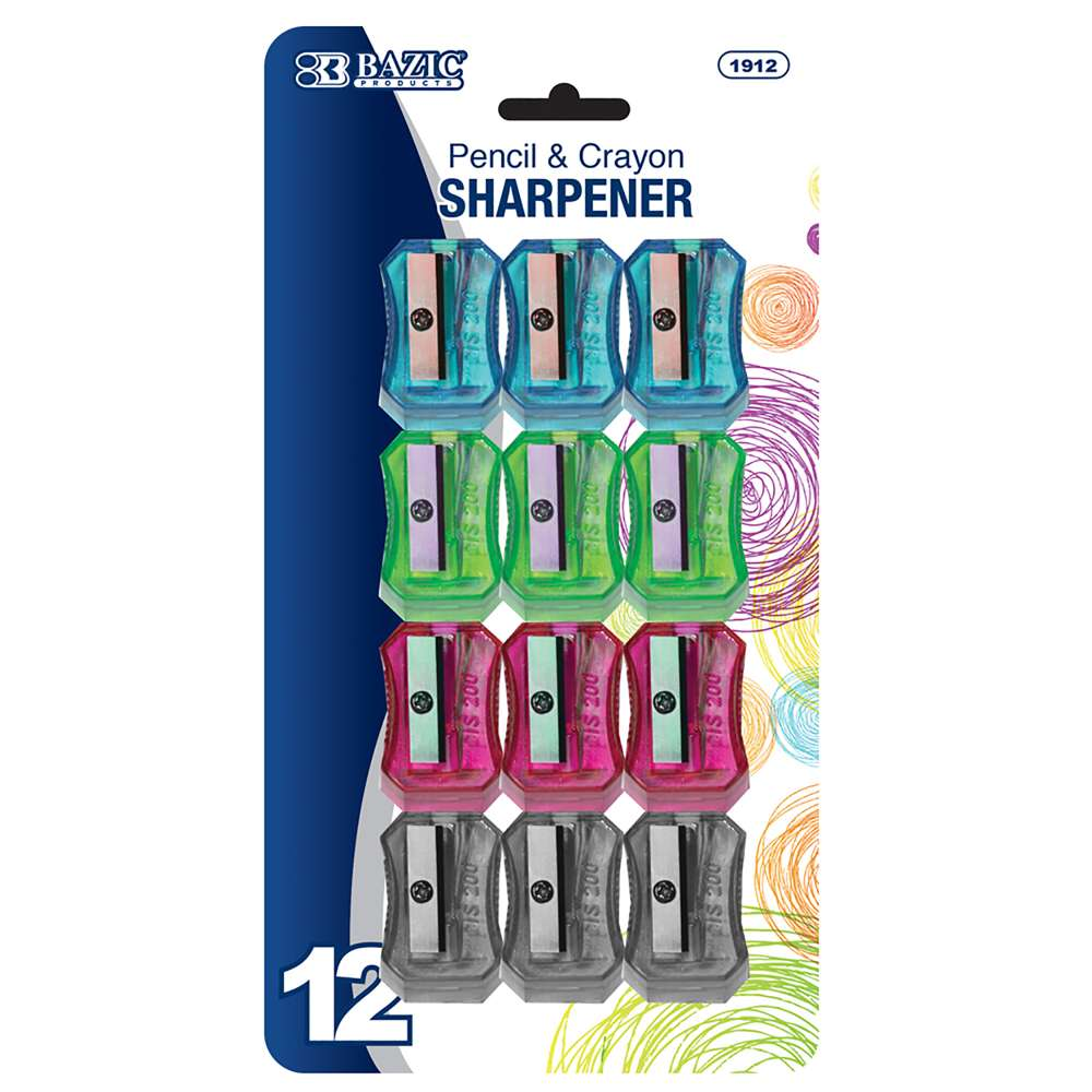 BAZIC Transparent Square Pencil Sharpener (12/pack)