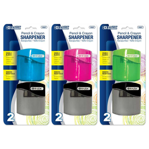 BAZIC Dual Blades Sharpener w/ Square Receptacle (2/Pack)