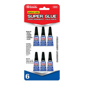 1 g / 0.036 Oz Single Use Super Glue (6/Pack)