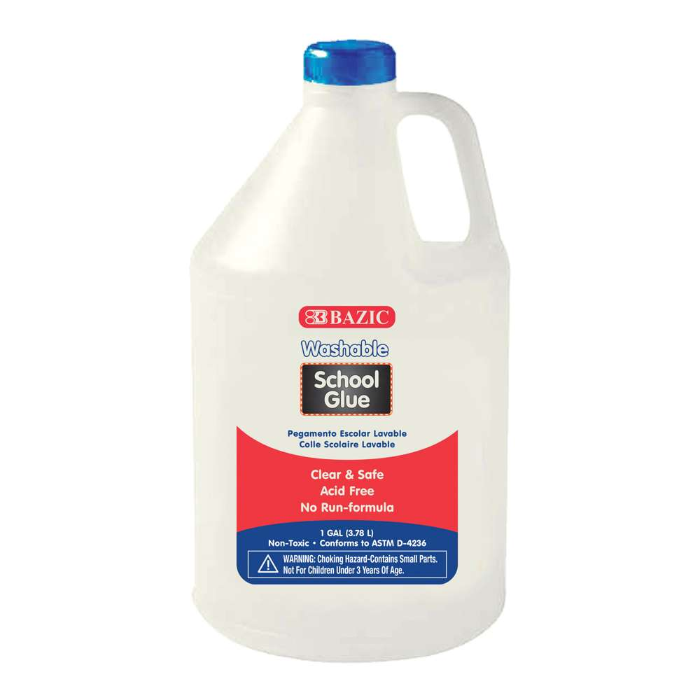 #2045 BAZIC 1 Gallon Washable Clear School Glue