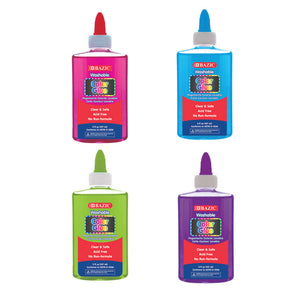 5 FL Oz (147 mL) Washable Clear Color School Glue