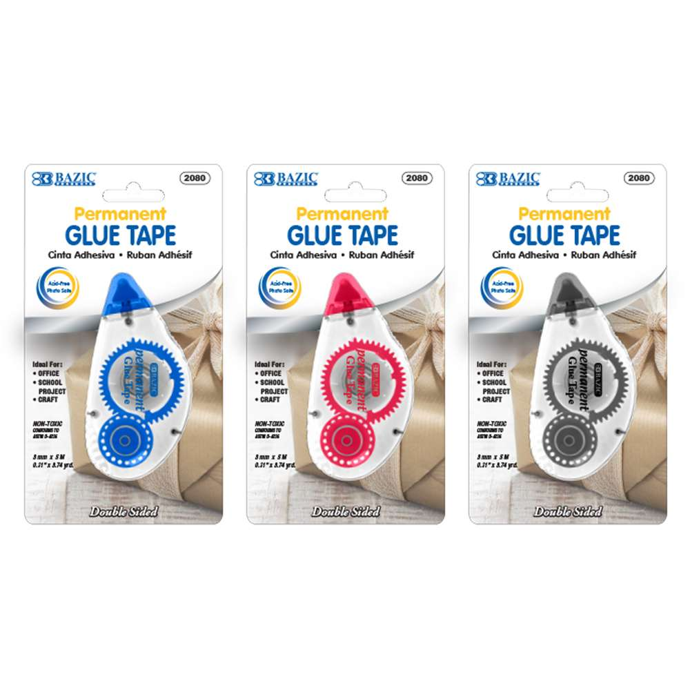 8 mm x 8 m Permanent Glue Tape - Bazicstore