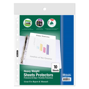 Heavy Weight Top Loading Sheet Protectors (10/Pack) - Bazicstore