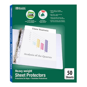 Heavy Weight Top Loading Sheet Protectors (50/Pack) - Bazicstore