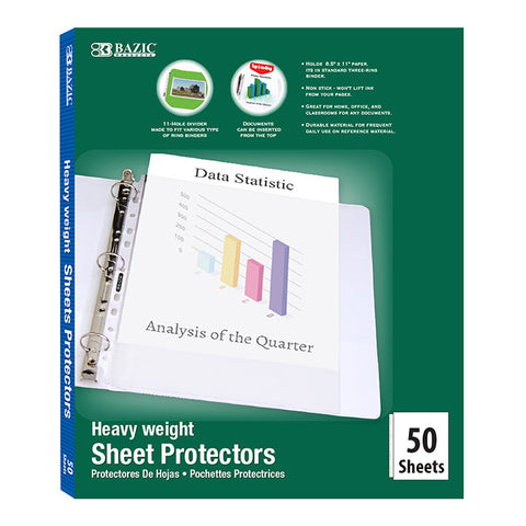 #2133 Heavy Weight Top Loading Sheet Protectors (50/Box)