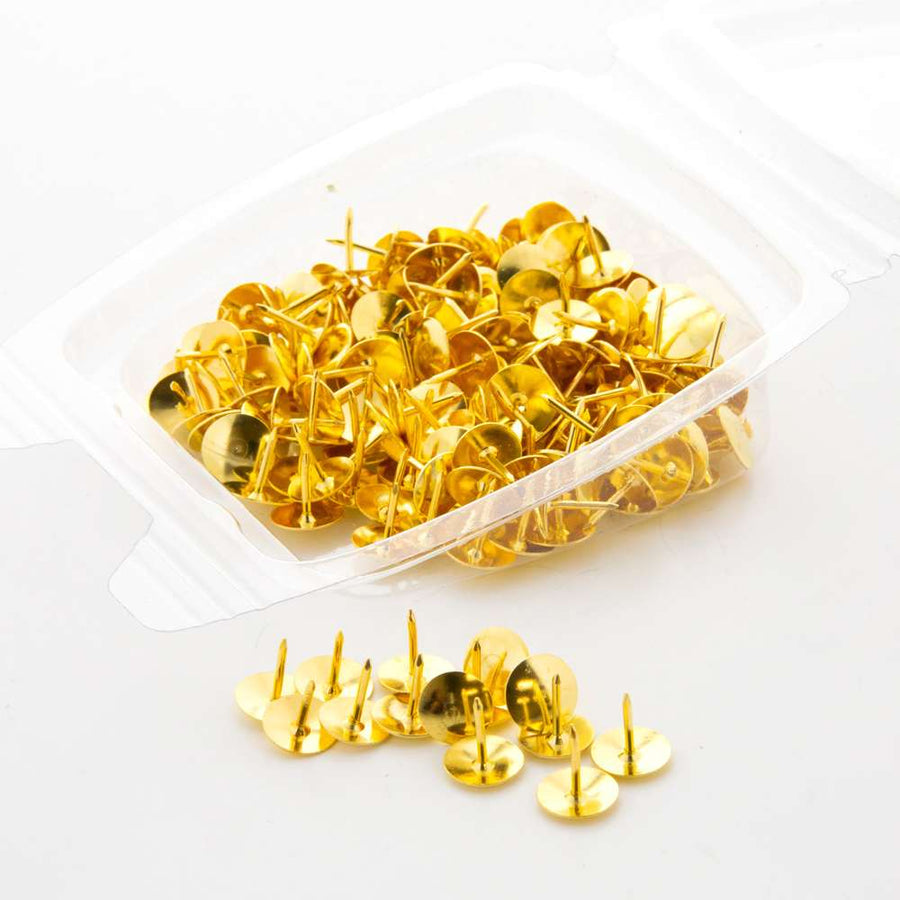 Brass (Gold) Thumb Tack (200/Pack) - Bazicstore