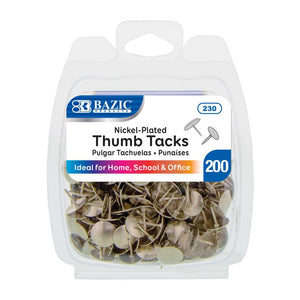 Nickel (Silver) Thumb Tack (200/Pack) - Bazicstore