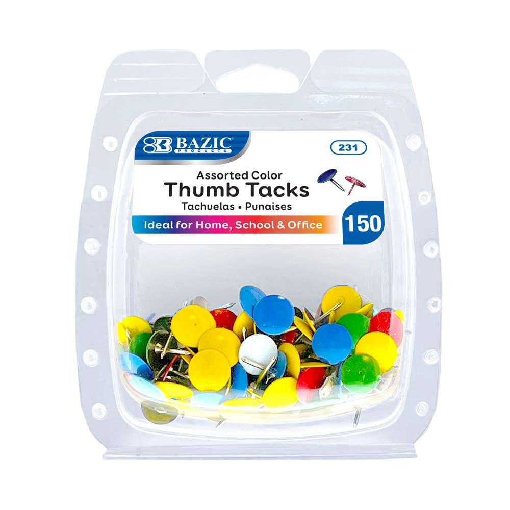 Assorted Color Thumb Tack (200/Pack) - Bazicstore