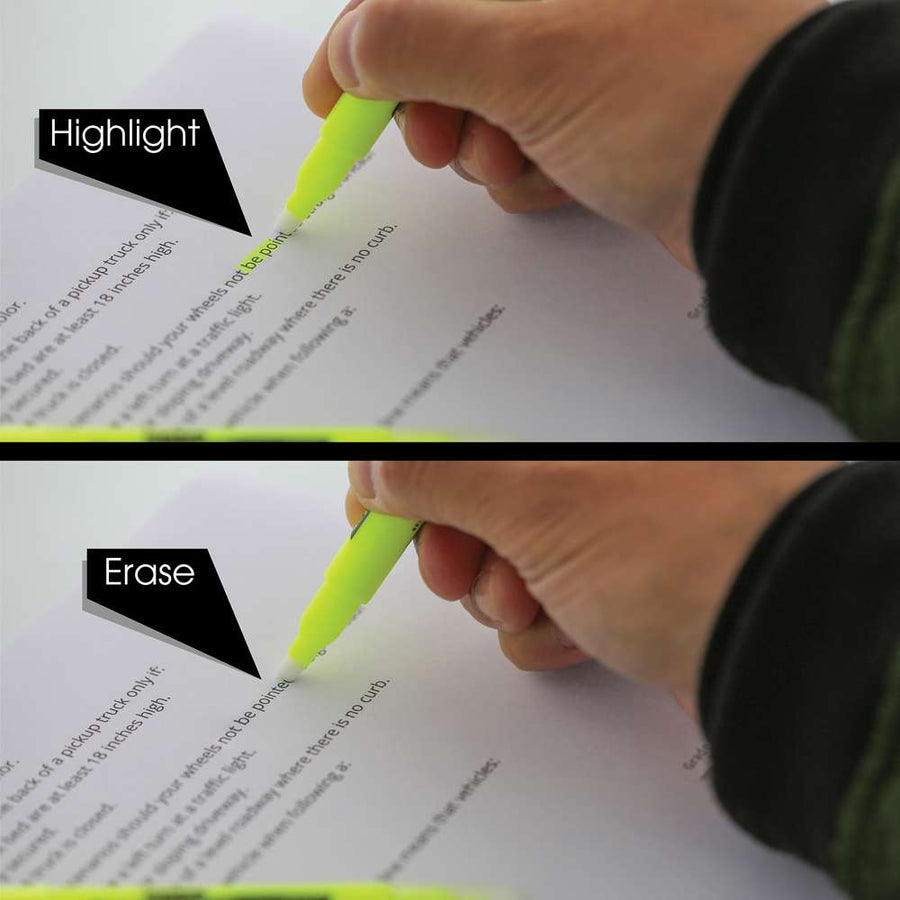 Yellow Erasable Highlighter (3/Pack) - Bazicstore