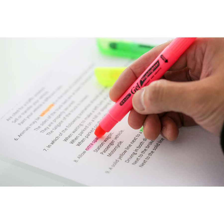 5 Fluorescent Gel Highlighter - Bazicstore
