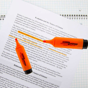 Fluorescent Highlighters w/ Pocket Clip (4/Pack)
