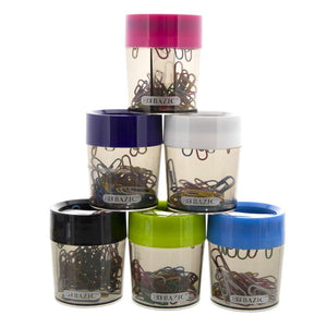 Magnetic Paper Clips Holder w/ Assorted Color No. 1 Paper Clip