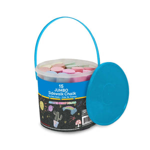Jumbo Color Chalk (15/Bucket) - Bazicstore